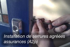 installation de serrure de haute sécurité de norme A2p sur Paris 17