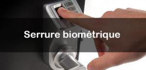 Sytème de verrouillage par serrure biométrique