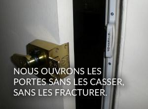 Alain Leroy ouvre vos portes sans destruction du matériel de serrurerie sur Paris 18