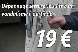 Dépannage serrurerie après vandalisme à 19€