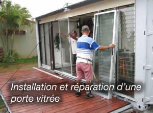 installation de porte vitrée sur le 75019