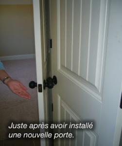Installation immédiate d'une nouvelle porte sur Paris 17