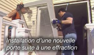 installation d'un bloc-porte sur Paris 20