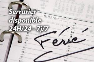 Serrurier disponible 24h/24 et 7j/7