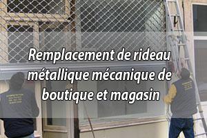 Remplacement rideau métallique à moindre coût