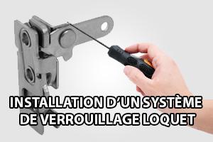 système de verrouillage loquet